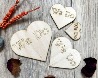 Wooden Hearts We Do Plywood Scrapbooking Embellishment Rustik Wedding Decor