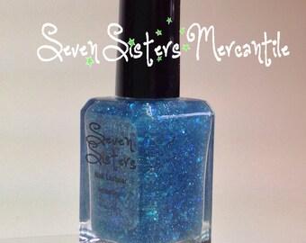 Mermaid Lagoon - Seven Sisters Nail Lacquer - 15 mL 0.5 Fl Oz. - Neverland Collection - Blue Green Iridescent Shimmer Glitter Nail Polish