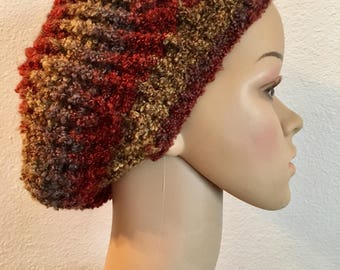 Slouchy Beanie with Earth Tones
