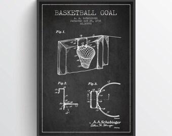 1938 Basketball Goal Patent Poster, Basketball Poster, Basketball Art Print, Basketball Wall Decor, Home Decor, Gift Idea, SA13P