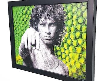 Jim Morrison Framed Wall Art Canvas Artwork