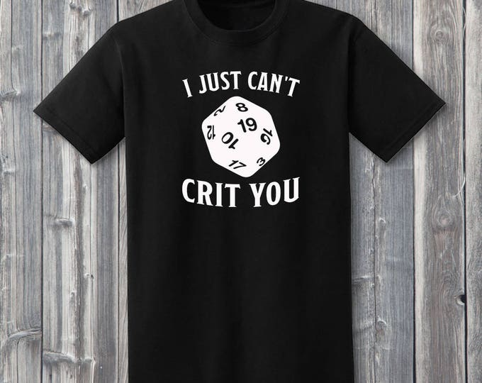 I Just Can't Crit You 100% Soft Cotton Gamer ONESIE