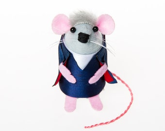 Peter Capaldi Mouse - Doctor Who collectable art rat artists mice felt mouse cute soft sculpture toy stuffed plush doll gift for whovian