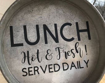 Lunch Served Daily Cake Pan
