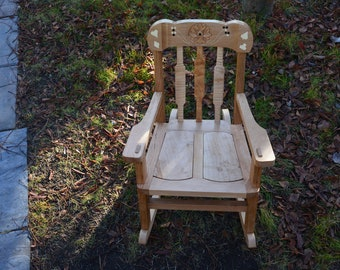Child S Rocking Chair Hickory Puzzle Rocker Custom Made