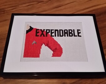Expendable Star Trek Cross Stitch