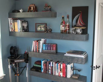 Wood Floating Shelves 8-inches Deep | Rustic Shelf | Farmhouse Shelf | Reclaimed Wood Floating Shelf | Handmade Shelf | Wood Wall Shelf