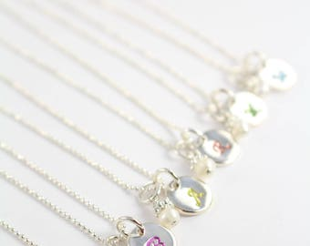 Girl Necklace , Jewelry for Girls , Initial Necklace for Girls Christmas Gift Idea 925 Sterling Silver