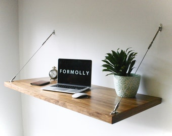 Industrial Desk - Hanging Wall Desk