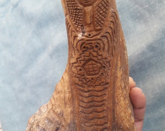 Primitive Bone Carving  14 cm x 7 cm