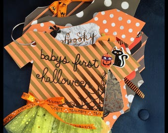 Halloween Scrapbook, Baby's First Halloween, Mini Halloween Scrapbook, Gifts for baby's first halloween, Halloween, Halloween premade album
