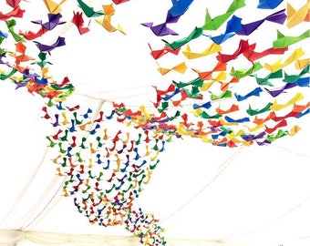 Origami Fish ceiling display