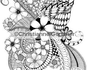 Instant Digital Download March Into Spring Coloring Page
