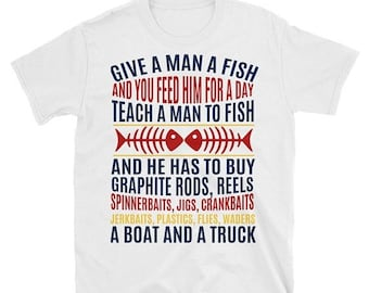 13% OFF SALE- MEN Tee Fishing Tee Fishing Shirt Plus Size Tee Gift For Dad Grandpa Gift Happy Fathers Day Rod And Reel Men Graphic Tee Men T
