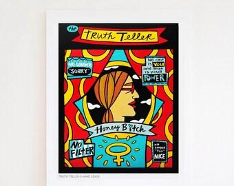 Truth Teller 8x10 Fine Art Print by Anne Leuck
