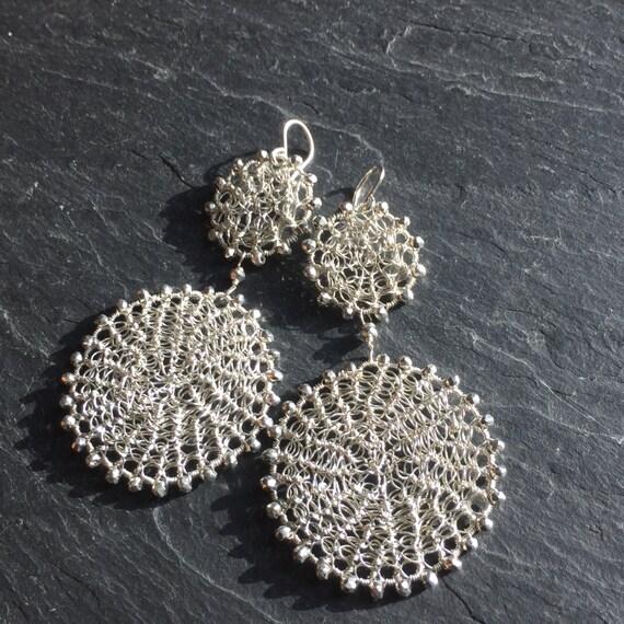 Double Disk Earrings in Rosegold