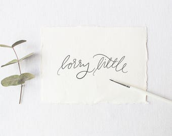 Custom Calligraphy Logo, Hand Lettered Logo, Photography Logo, Branding, Business Logo