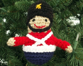 Toy Soldier Crochet Ornament