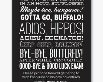 farewell etsy