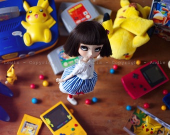 "Tirage simple 10x15cm ""Play With Me"" - Pullip Isul Dal photographie, doll art collection, impression deco no BJD no Blythe"