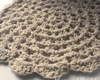 Vintage Style Crochet Placemats rustic doily: set of two