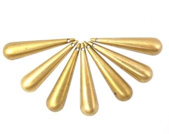 Vinage Brass Teardrop Charms (8x) (V442)