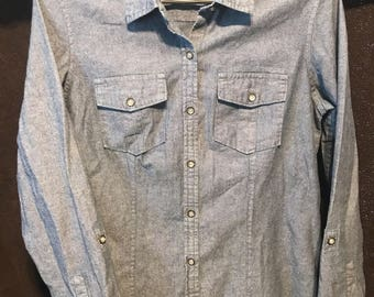Eddie Bauer size medium denim top