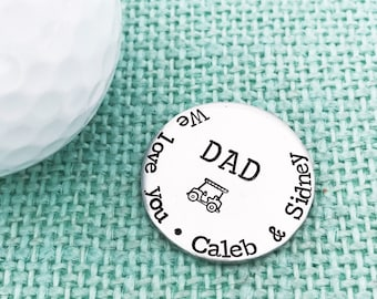 Customizable Golf Ball Markers! Hand Stamped Golfing Accessories by Eight9Designs