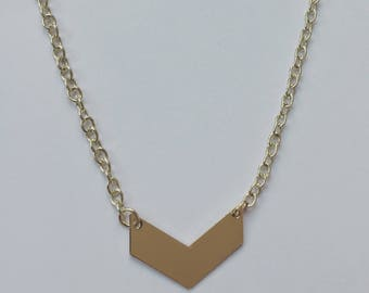 "Dainty gold choker 14"" with extender"