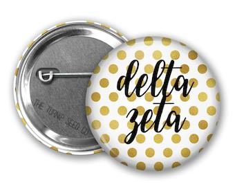 """Delta Zeta Button 2.25"""" - Single or Bulk (BD202)"""