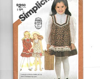 Simplicity Child's Pullover Dress Pattern 5395