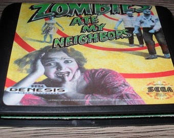 Game Megadrive Mega Drive Genesis: Zombies ate My Neighbors customized