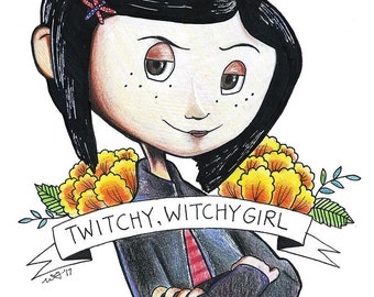Twitchy, Witchy Girl Print