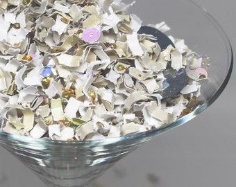 Winter Wonderland, Snowflake Confetti, Winter Wedding Decor, Wedding Decorations, Silver and Gold, Holiday Party Decor, Party Confetti