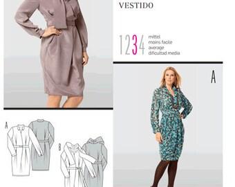 Burda sewing pattern - mod dress - Size 10-12-14-16-18-20-22