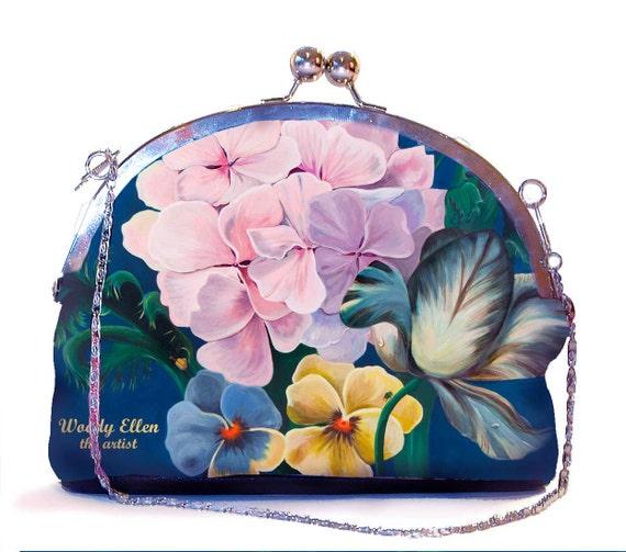 Retro clip purse, clutch bag, Eden, birthday gift, gift for her, gift for mom, Woody Ellen handbag, christmas gifts, valentine gift ideas