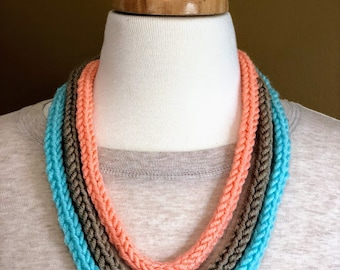 Rope Knitted Necklace