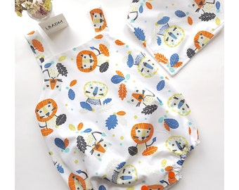 Ranita bebe. Peto para bebé. ropa bebes. Baby clothes. cubrepañales. bloomers. diaper covers. mameluco bebe. tela infantil. leones.