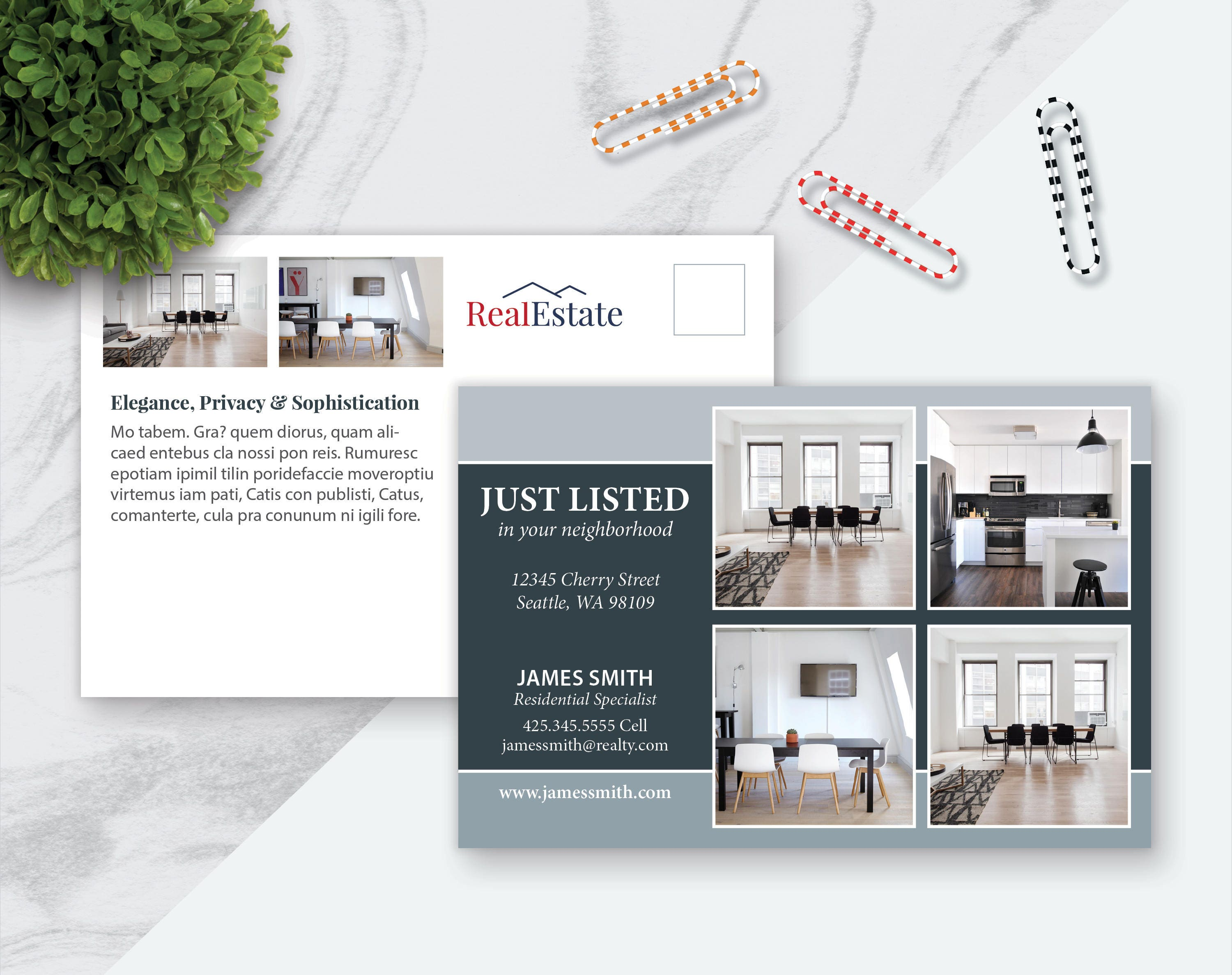 postcard template for pages