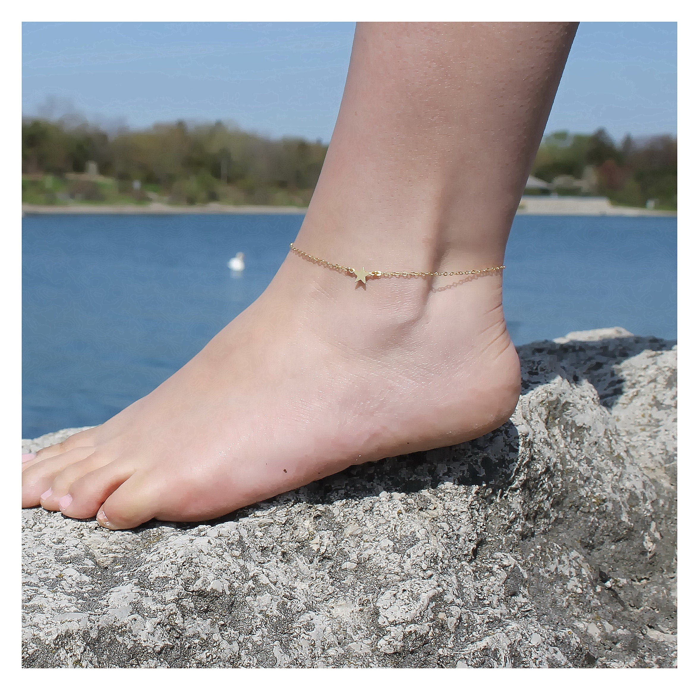 jewelry bracelet plated whisper ball chain thin itm delicate anklet minimalist gold