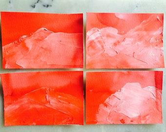 Handmade Fire Mountains, Textured NoteCards, Set of 4