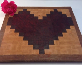 Custom Pixel Art Cutting Board