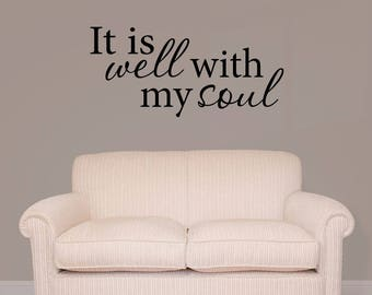 It Is Well With My Soul Hymn Song Lyrics Vinyl Wall Decal