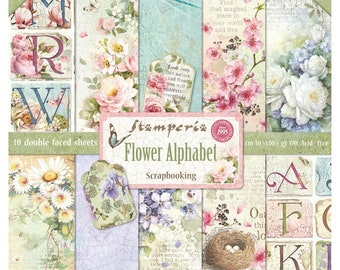 Flower Alphabet by Stamperia-12x12 Patterned Papers