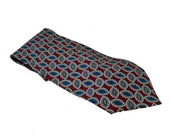 Vintage Caumont Silk Necktie - Extra Long - FREE USA SHIPPING