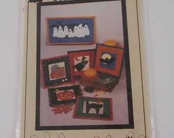 Craft Pattern Packet Appliqued Small Quilts Goblins Little Brown House No Sew 1994