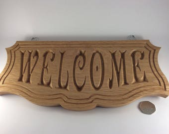 Wooden Welcome Sign * Plaque * House * Home * Outside