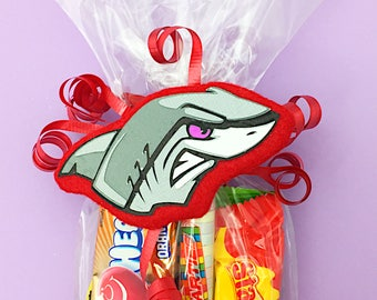 Shark Attack Birthday - Shark Birthday Favors - Shark Birthday Party - Shark Birthday Theme - Shark Boy Birthday - Shark Favor Tags