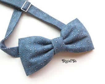 Bow Tie Dusty Blue, Steel Blue Bow Tie, Slate Blue Bow Tie, Steel Blue Wedding Bow Tie