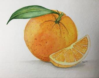 Orange Still Life Watercolor